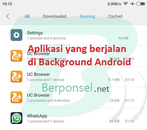 cara menghentikan aplikasi yang berjalan di background android