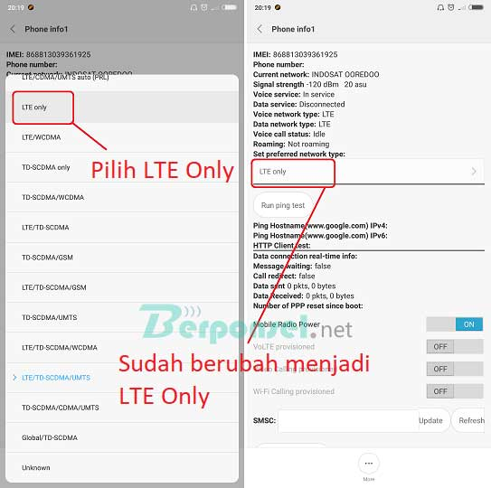 Cara Mengaktifkan 4G LTE Only Xiaomi Redmi Note 5