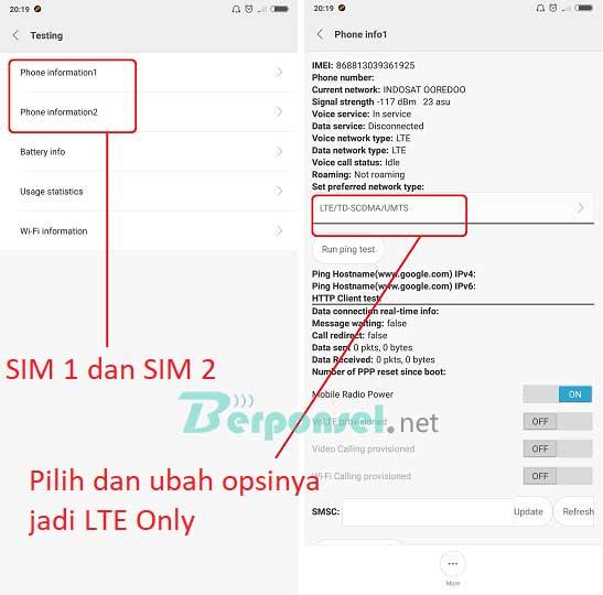 Cara Mengaktifkan Jaringan 4G Only Xiaomi Redmi S2