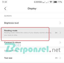 Cara mengaktifkan mode baca