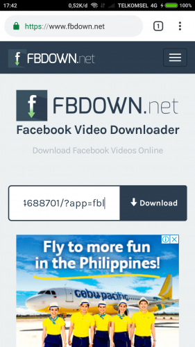 mengunduh video fb tanpa aplikasi