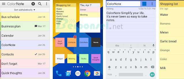 kumpulan daftar Aplikasi Note/Catatan dan memo untuk Hp Android