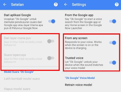 cara menggunakan OK Google android