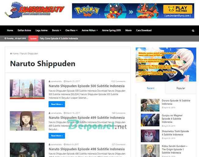 Situs Download Film Naruto Terbaik dan Lengkap