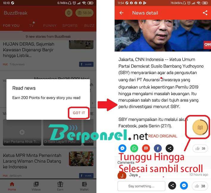 Aplikasi Baca Berita Mendapatkan Saldo DANA dan Paypal