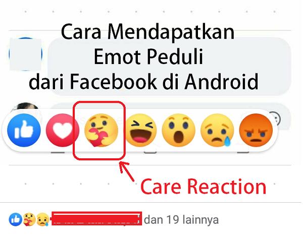 Cara Mendapatkan Emot Peduli Dari Facebook di Android