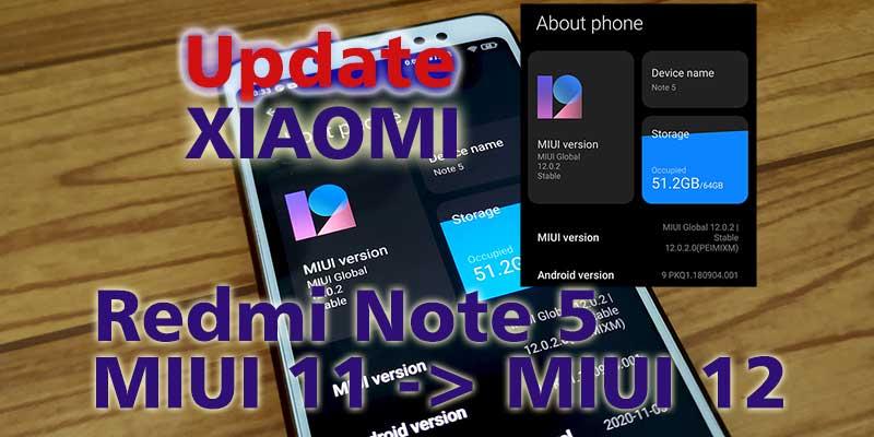 Cara Update Redmi Note 5 MIUI 12 Via OTA tanpa TWRP